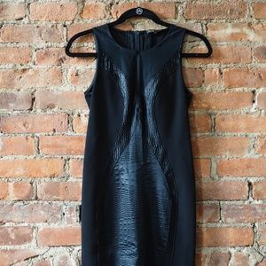 Maje Black Dress with Mesh Accents